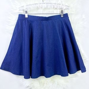 Topshop Chambray Full Circle Skater Skirt